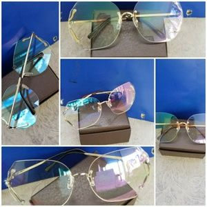 Metal Frame Lenses Men woman clear over size